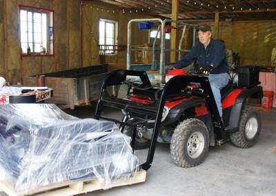 Hydraulic ATV Implements and Attachments