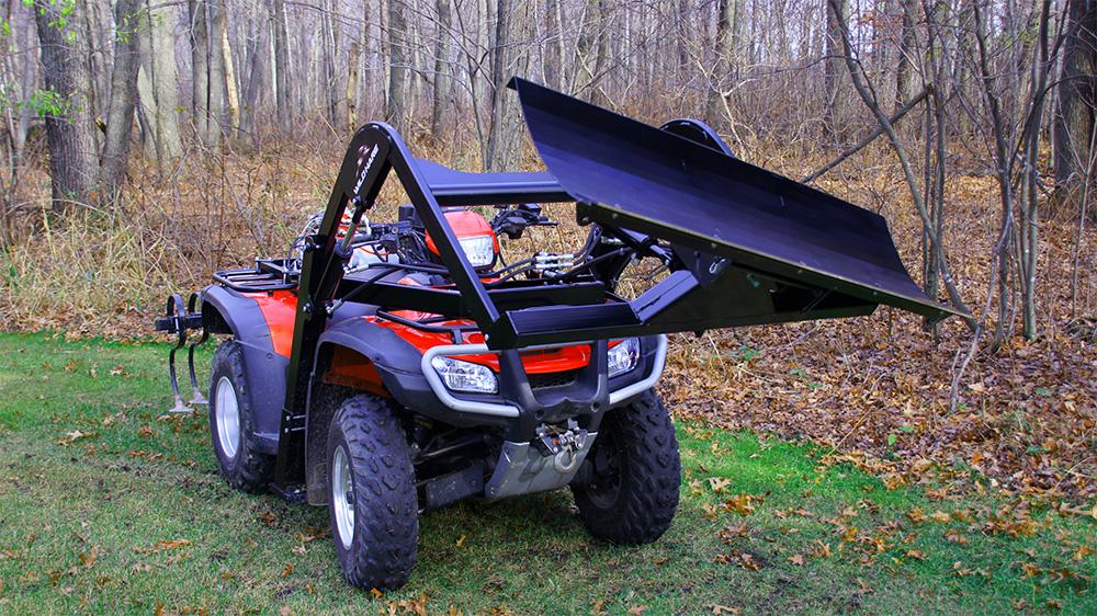 Easy Install ATV Snowplow Attachment