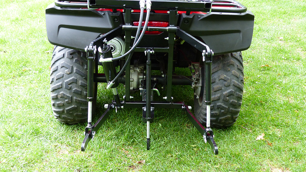 Three Point Hitch : Hydraulic atv point hitch full stand alone