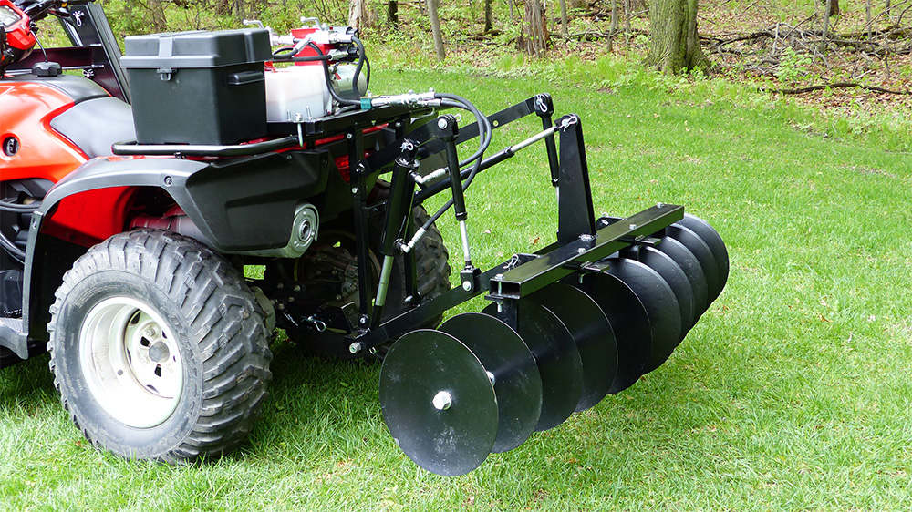 Atv Disc Harrow Attachment Hydraulic 3 Point Hitch Accessory