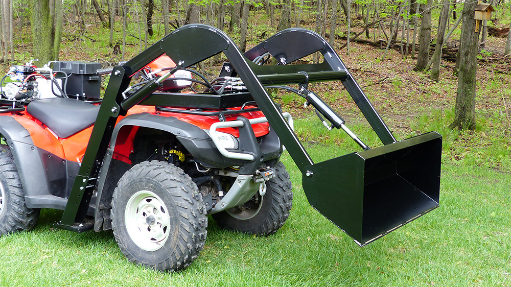 Four Wheeler Hydraulics : Atv front loader hydraulic end attachment