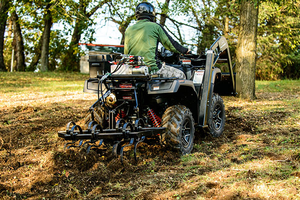 Hydraulic Powered Cultivator ATV Attachment In Action