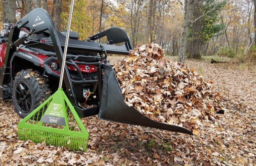 Hydraulic Powered Lawn Basket ATV Attachment Product Image 2