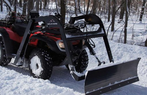 Hydraulic Powered Snow Plow ATV Attachment Product Image 1