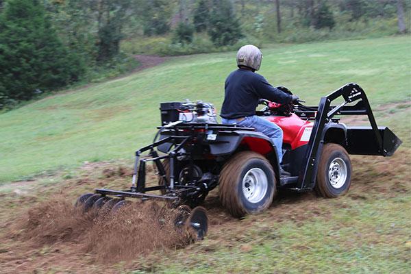 Hydraulic Rear Disc Harrow ATV Attachment