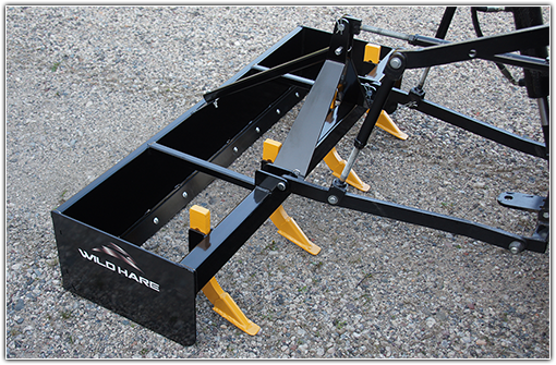 Wild Hare ATV Hydraulic Box Blade Road Grader Attachment