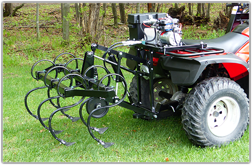 ATV Hydraulic Cultivator Attachment
