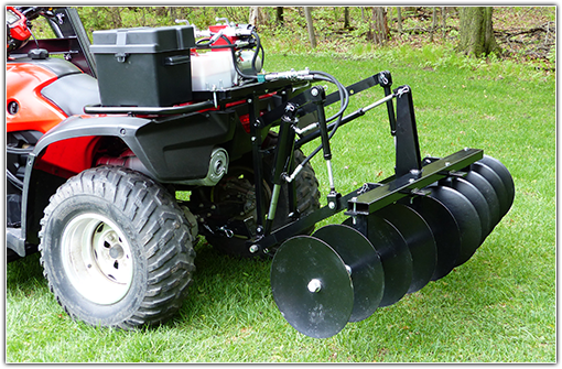 ATV Hydraulic Disc Harrow Attachment